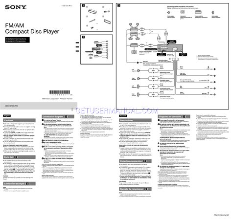 sony cdx gt65uiw wiring diagram free wiring