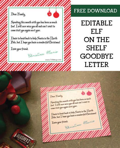 shelf elf goodbye letter inspiration  simple