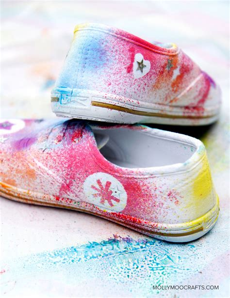 diy decorate shoes mollymoocrafts diy shoe decorating for