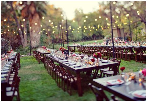 Backyard Wedding Reception Real Enchanted Garden Wedding Steve