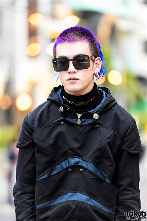 Tas Fashionable Gtf026 Purple purple haired harajuku in cyberdog style w t a s boots from lt tokyo