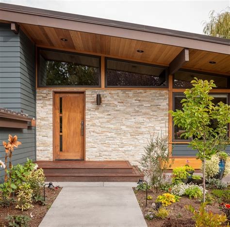 17 captivating mid century modern entrance designs that