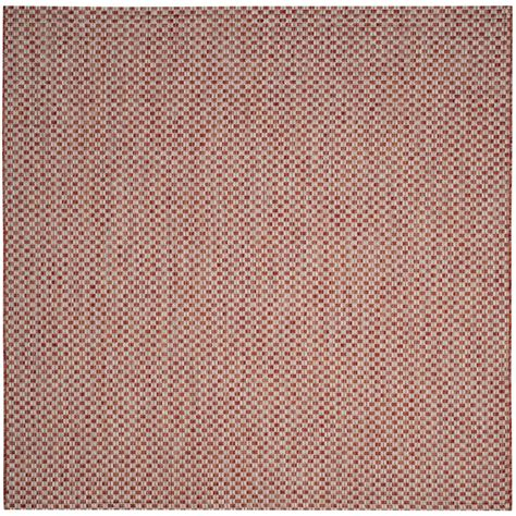 safavieh cy5146a courtyard indoor outdoor area rug rust lowe s canada safavieh courtyard rust light gray 6 ft 7 in x 6 ft 7 in indoor outdoor square area rug