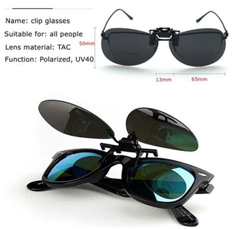 Kacamata Polarized Uv Vision lensa klip kacamata polarized black black