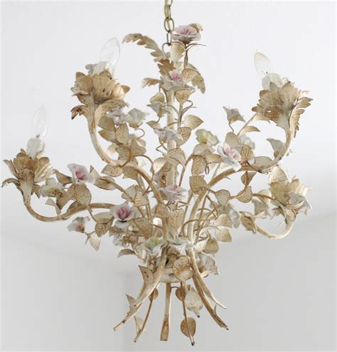 Antique French Tole Chandelier Shabby Chic Chandeliers Shabby Chic Lighting Chandelier