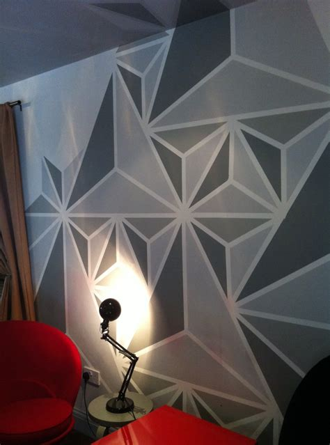 geometric pattern on wall what colour to paint geometric update walls bar and