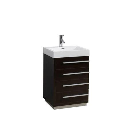 Polymarble Vanity Tops by Virtu Usa Bailey 23 62 In W Vanity In Wenge With Polymarble Vanity Top In White Js 50524 Wg