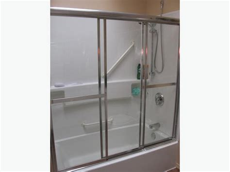 Maax Chrome 3 Panel Tub Shower Doors With Clear Glass Three Panel Shower Door