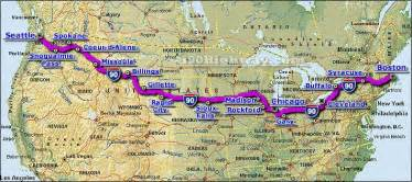 us map of interstate 90 cross country road trip interstate 90 highway