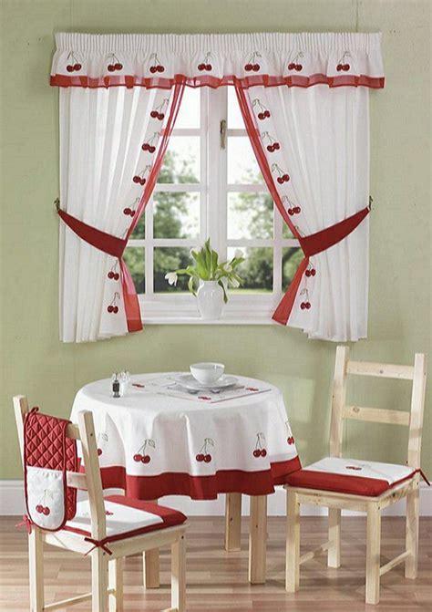 schöne gardinen sch 246 ne gardinen k 252 chenfenster retro kirschen motive
