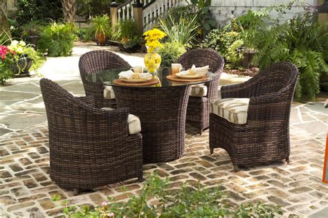 artificial wicker patio furniture wicker vs synthetic resin wicker patio productions