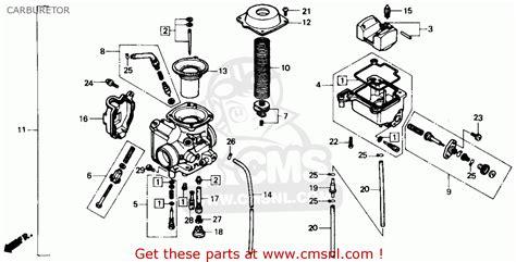 honda fourtrax 300 parts diagram honda trx300 fourtrax 300 1991 m usa carburetor