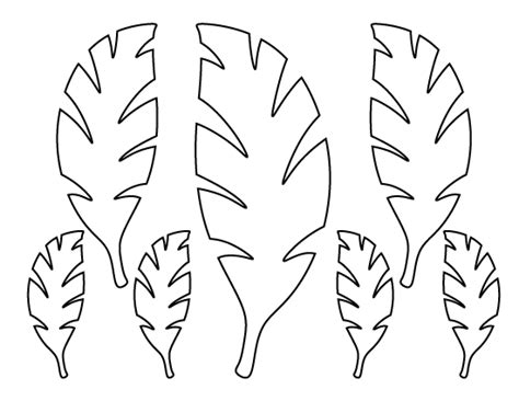 palm branch template palm leaf pattern use the printable outline for crafts