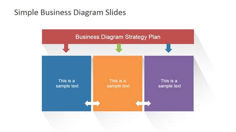 simple business template powerpoint simple business diagrams slides for powerpoint slidemodel