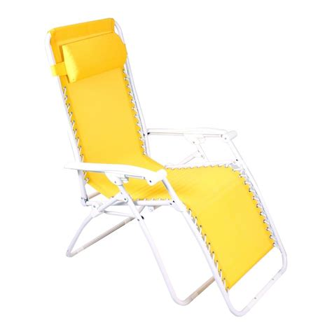 shop manufacturing yellow steel folding patio zero gravity chair at lowes