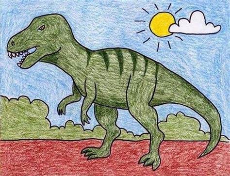 Drawing T Rex Dinosaur by T Rex Projects For