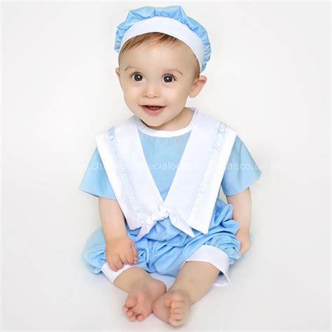 Romper Sailor With Hat baby boys blue sailor christening romper hat suit 2