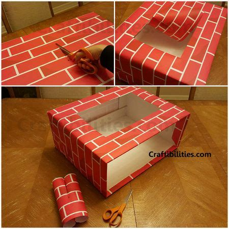 how to decorate a bureau for christmas in a tiny cottage festive office space fireplace computer desk decorations brick craft paper