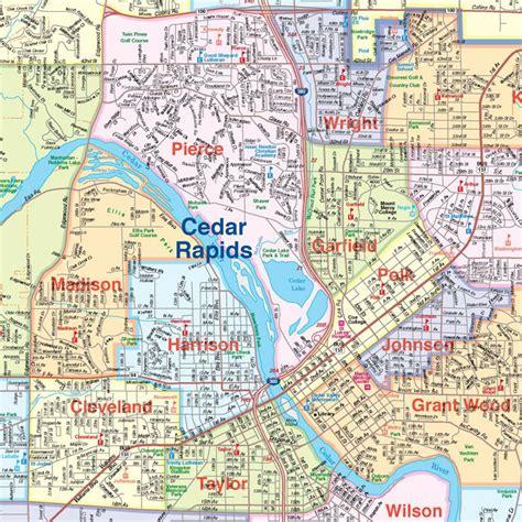 map of cedar rapids iowa eagle eye maps map portfolio
