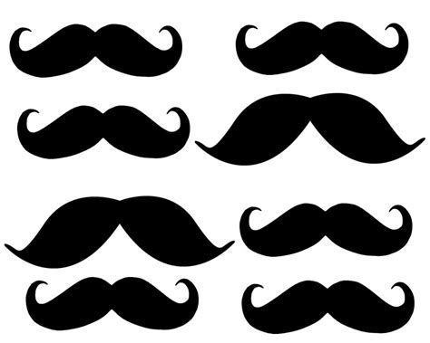 mustach template 5 best images of printable mustache template printable