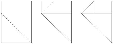Paper Folding Math Problem - matt scroggs blogs sunday afternoon maths xx
