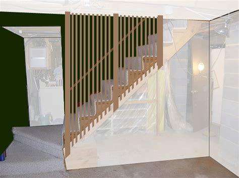 heather o rourke basement ceilings and ceiling tiles on diy stair rail ideas for heather s retro basement remodel