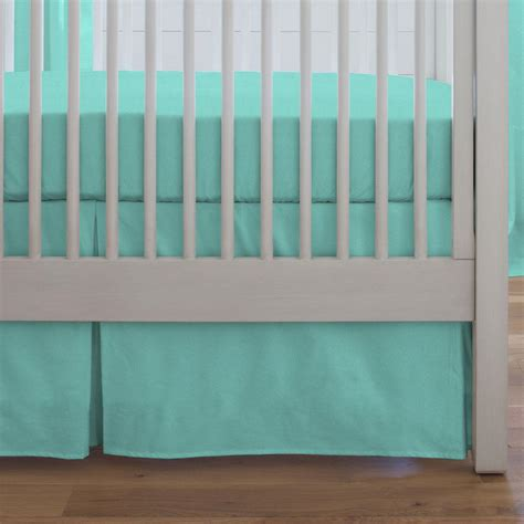 Crib Bed Skirt Solid Teal Crib Skirt Box Pleat Carousel Designs