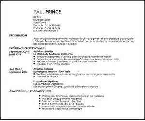 Curriculum Vitae Resume by Cv Assistant Patissier Exemple Cv Assistant Patissier