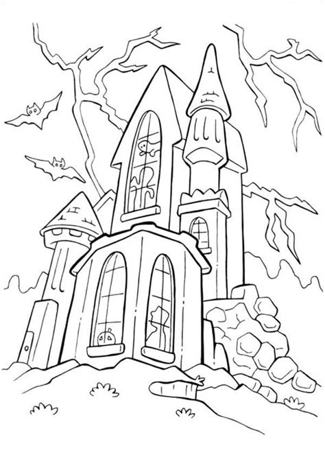 halloween coloring pages castle castle halloween coloring pages festival collections