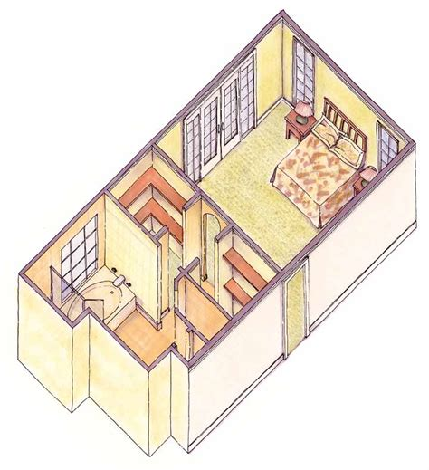 isometric view of bedroom isometric view bedroom and bath
