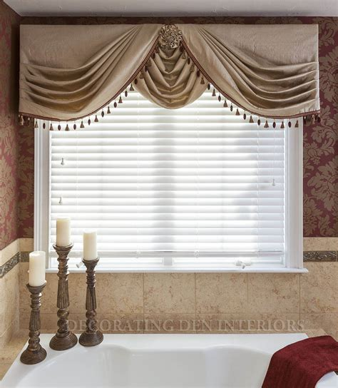 side swags with center swag choux valances pinterest
