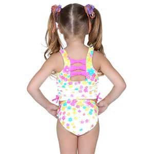 Hula star pink rhinestone floral tankini swimsuit little girls 4 6x