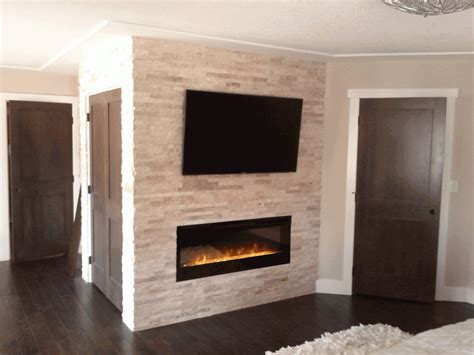 Fireplace Surround Faux Brick Walls Gas Fireplace With