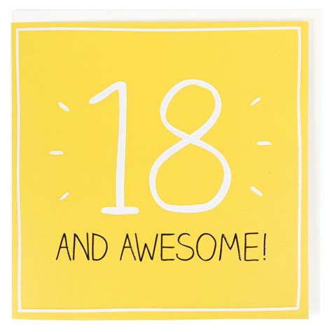 Awesome Birthday Cards For 18 And Awesome 18th Birthday Card All Birthday Cards