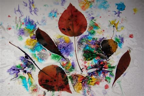 Craft Wax Paper - toddler approved fall leaf color hunt wax paper creations