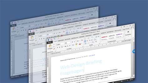 Word Vorlage Projekt Web Design Briefing Word Vorlage Mit Choice Uid Designstudio