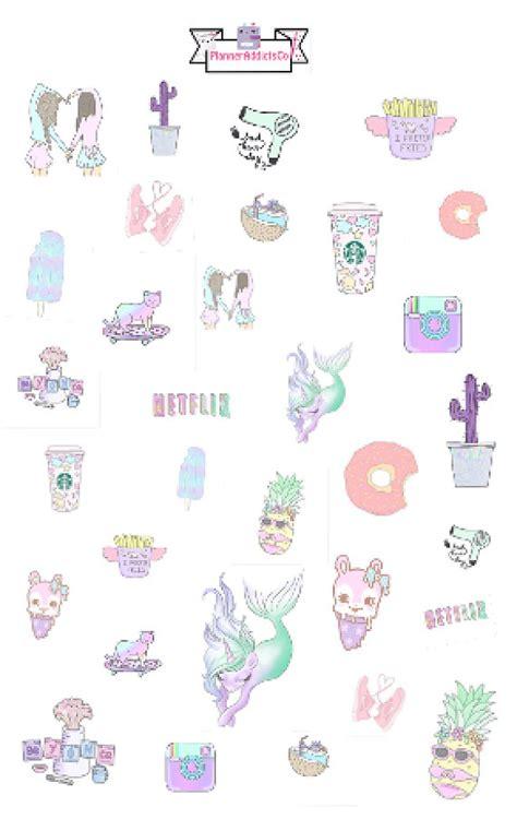 Wallpaper Sticker Girly inspired pastel girly planner stickers