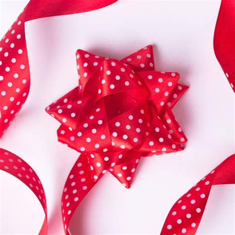 Set Polka Ribbon by White Polka Dot Satin Bow Ribbon Set Only 99p