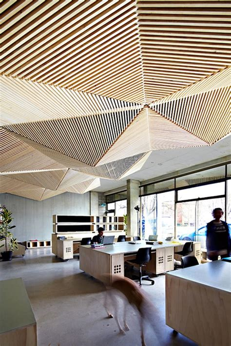 cool ceilings creative workspace office space interior design