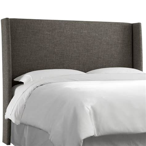Wingback Headboard King Skyline Upholstered Wingback King Headboard In Charcoal 433kzmchr