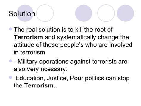Solutions Terrorism Essay essay on solution to terrorism
