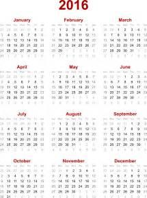 Calendar 2016 Calendar Clipart 2016 Calendar