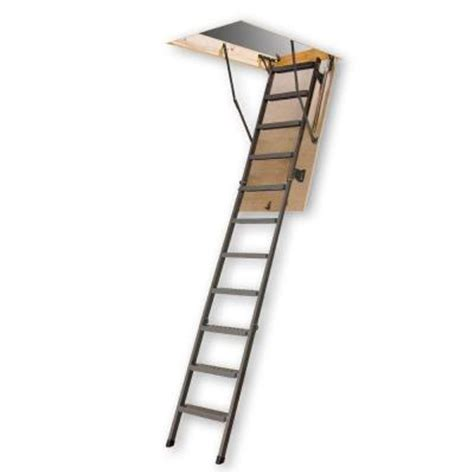 54 in x 25 in x 10 ft steel attic ladder with 300 lb