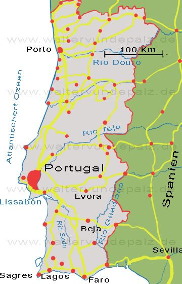 Fluss In Portugal by Fl 252 Sse Portugal Karte