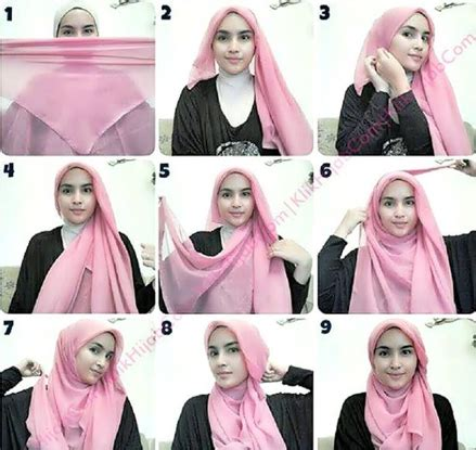 gambar hijab paris tutorial cara memakai hijab modern paris 2016
