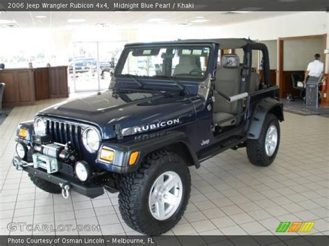 midnight blue jeep midnight blue pearl 2006 jeep wrangler rubicon 4x4