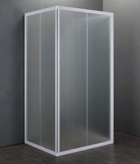 box doccia in acrilico box doccia acrilico 3 lati apertura scorrevole opaco