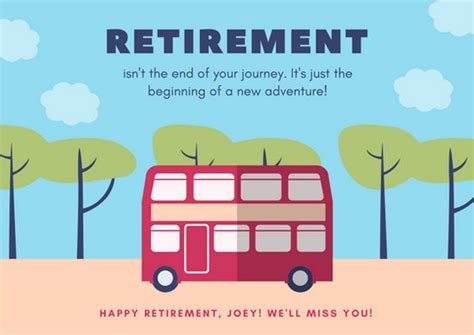 retirement cards free printable google docs