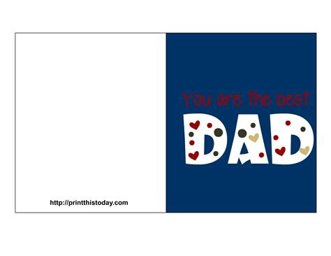 free printable fathers day card templates free s day cards printable