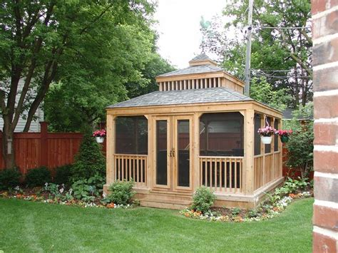 screen gazebo stunning screened gazebo 19 photos building plans